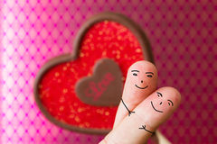 Amor dos povos do dedo Foto de Stock Royalty Free