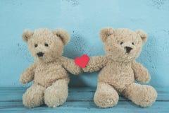 Amor dos ursos de peluche Imagem de Stock