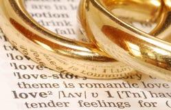 Amor dourado Foto de Stock