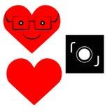 Amor e ícone da câmera Foto de Stock
