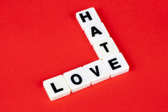 Amor e ódio Foto de Stock Royalty Free