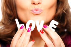 Amor e beijos Fotos de Stock Royalty Free