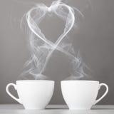 Amor e café Imagens de Stock