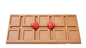 Amor e chocolate Fotos de Stock