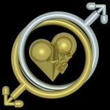 Amor e coração 02 foto de stock royalty free
