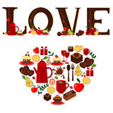Amor e coração ilustração do vetor
