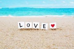 Amor e coração Imagens de Stock