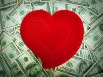 Amor e dinheiro Imagem de Stock