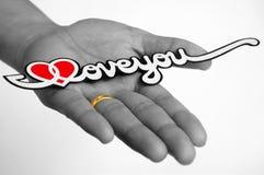 Amor e fé Foto de Stock