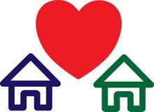 Amor e HOME fotos de stock royalty free