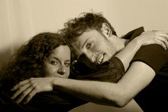 Amor e Hug Imagem de Stock