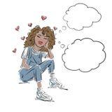 Amor e juventude ilustração stock
