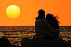 Amor e mar Fotografia de Stock