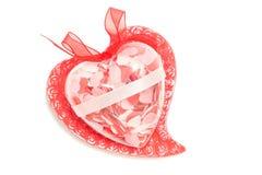 Amor e paixão - os corações isolaram-se Imagem de Stock Royalty Free