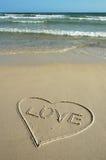 Amor e praia Imagem de Stock