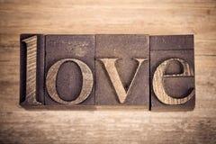 Amor em blocos de impressão Imagens de Stock