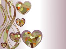Amor em cores retros ilustração do vetor