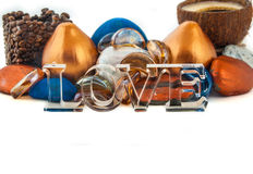 Amor em um cartão Imagens de Stock