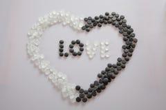 Amor em um coração Fotografia de Stock