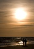 Amor em uma praia Imagem de Stock