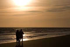 Amor em uma praia Imagens de Stock Royalty Free