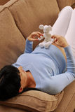 Amor embarazada. imagenes de archivo