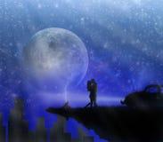Amor en cielo stock de ilustración