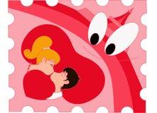 Amor en color de rosa Fotografía de archivo