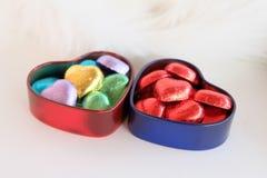 Amor en corazón Gitf del día de tarjeta del día de San Valentín Imagenes de archivo
