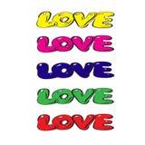 Amor en cuatro colores Foto de archivo libre de regalías