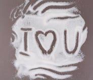 Amor en el azúcar Imagen de archivo libre de regalías