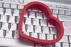 Amor en el concepto del Internet Fotografía de archivo libre de regalías