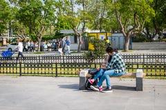 Amor en el Kadikoy en Estambul, Turquía Fotografía de archivo libre de regalías