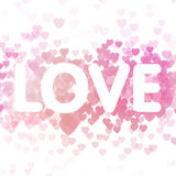 Amor en fondo del corazón Fotos de archivo libres de regalías