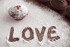 Amor en harina Foto de archivo libre de regalías
