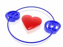 Amor en Internet stock de ilustración