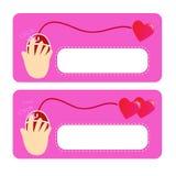 Amor en Internet Imagen de archivo libre de regalías