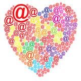 Amor en línea stock de ilustración