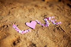 Amor en la arena Imagen de archivo