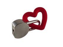 Amor en la cerradura Imagenes de archivo