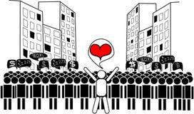 Amor en la ciudad grande Imágenes de archivo libres de regalías