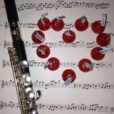 Amor en la música Foto de archivo libre de regalías
