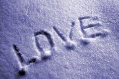 Amor en la nieve Imágenes de archivo libres de regalías