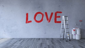 Amor en la pared Imagenes de archivo