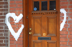 Amor en la puerta Foto de archivo libre de regalías