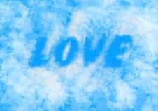 Amor en las nubes Imágenes de archivo libres de regalías