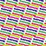 Amor en modelo de cuatro colores Fotos de archivo libres de regalías