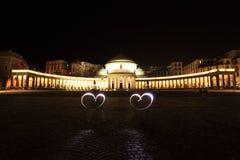 Amor en Napoli imágenes de archivo libres de regalías