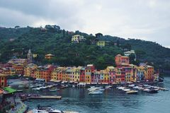 Amor en Portofino Fotos de archivo