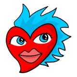 Amor engraçado do coração ilustração do vetor